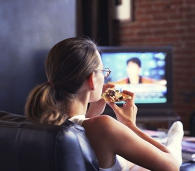 try not to eat while watching tv